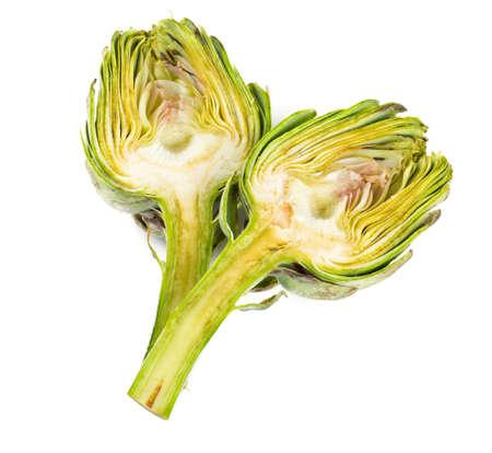 artichokes isolated on white photo