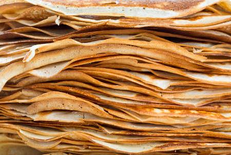 crepes: pila de crepes