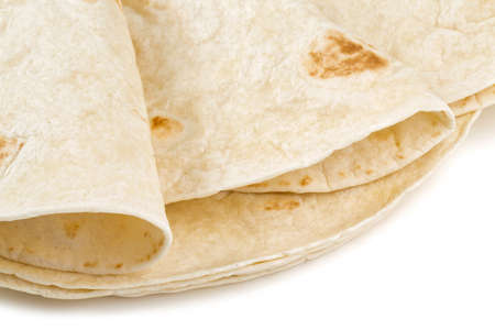 tortillas: wheat tortillas isolated on white