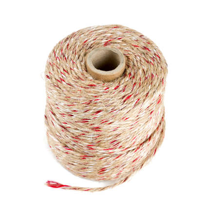 twine roll isolated on white Stock Photo
