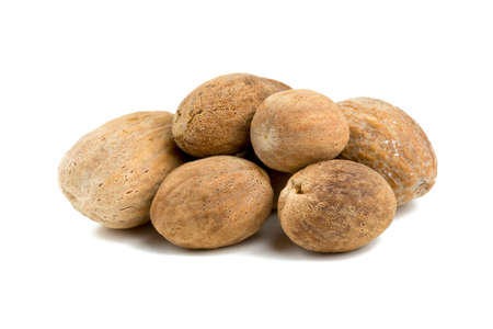 nutmeg: nutmeg isolated on white