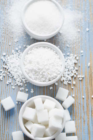 white sugar assortment Standard-Bild