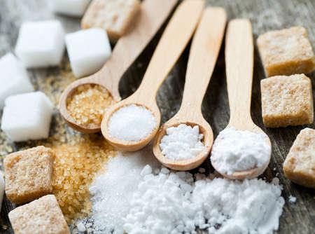 brown sugar: sugar assortment