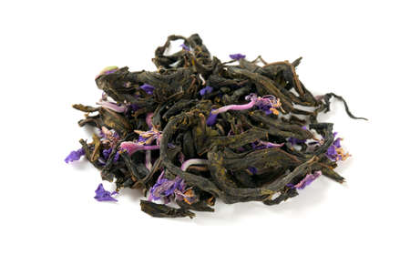 compacted: fireweed tea isolated on white Stock Photo