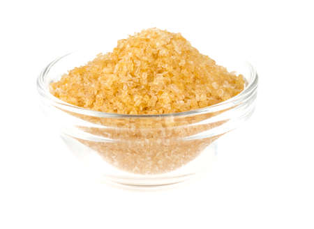 gelatine: crystals of gelatine in a bowl Stock Photo