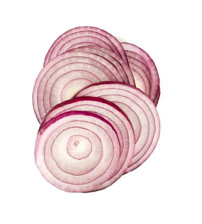 onion: cebolla roja aislado sobre fondo blanco