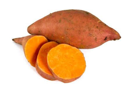 sweet potato isolated on white Imagens - 48150925