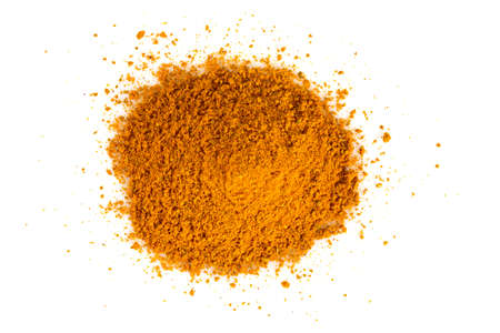 curry powder: curry powder isolated on white background