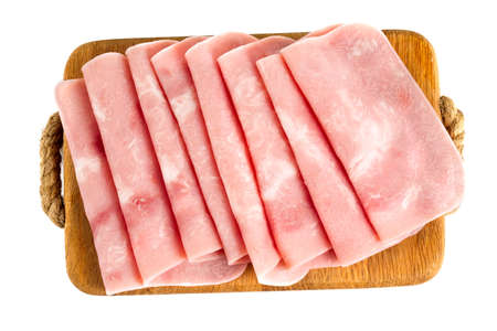 to lean: squared slice of lean pork ham