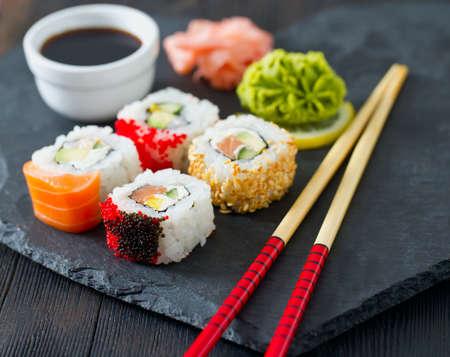 assortment: sushi assortment Stock Photo