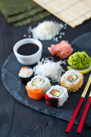 preparing: preparing sushi