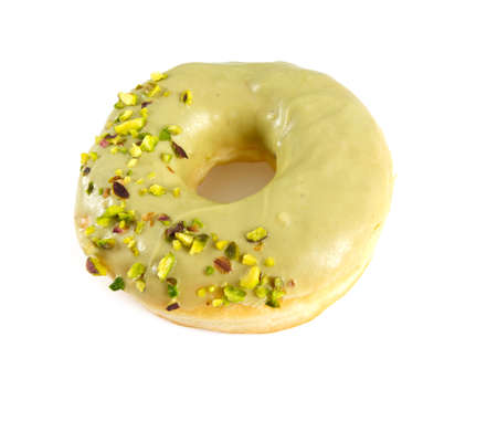 dough nut: pistachio doughnut Stock Photo