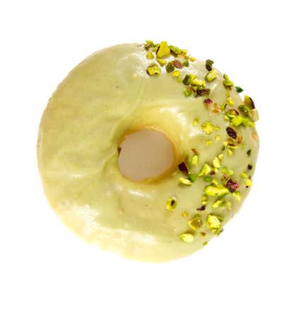doughnut: pistachio doughnut Stock Photo