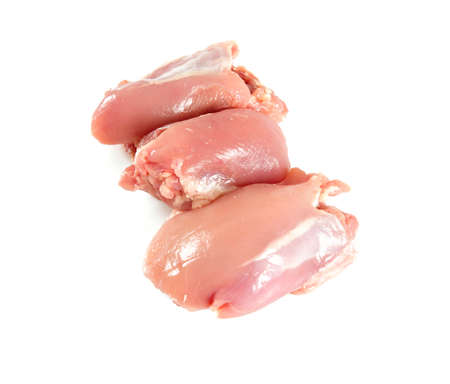 chicken leg fillet isolated on white