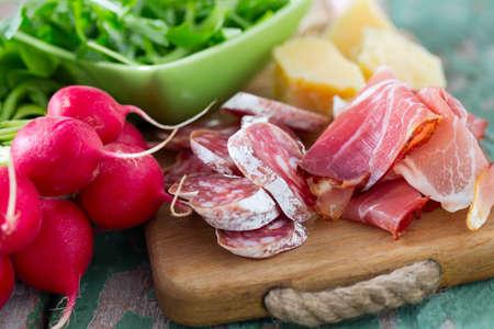Parmesan: salami, proschiutto,parmesan and radishes