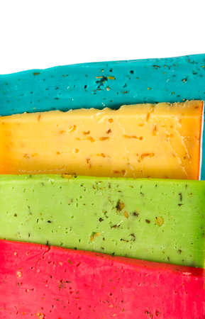 variation: variation of color cheese Stock Photo