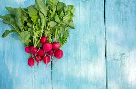radishes: radishes on wooden surface