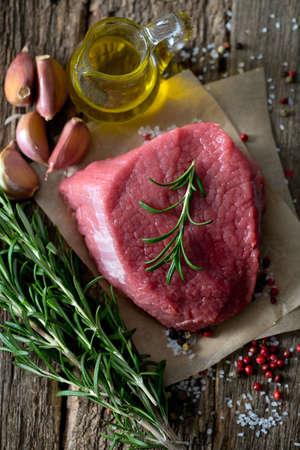 raw: raw beef Stock Photo