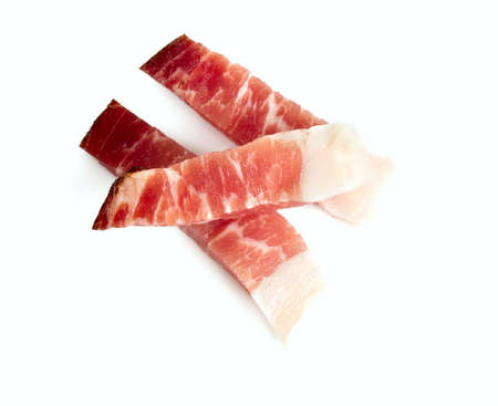 speck: italian speck isolated on white background