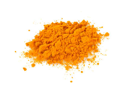 peppery: curcuma powder isolated on white Stock Photo