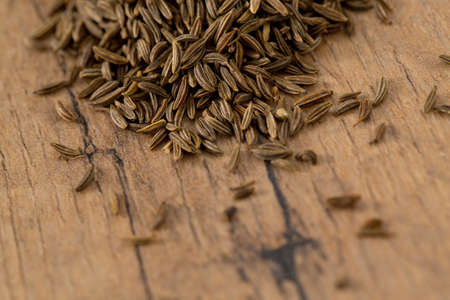 caraway: caraway in wooden surface