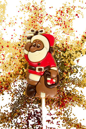 chocolate santa Stockfoto
