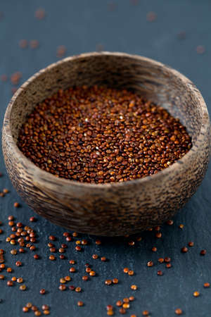 red quinoa: red quinoa on dark background