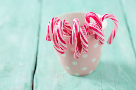 Christmas striped candies Stock Photo