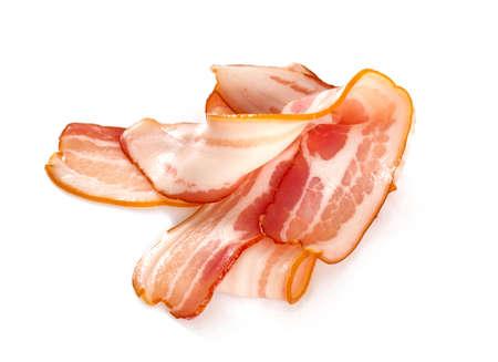bacon isolated on white background