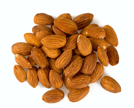 almonds isolated on white background Stock Photo