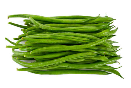 haricot: string beans isolated on white background Stock Photo