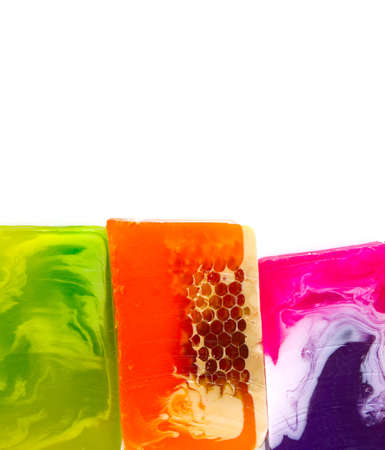 colorful home made soap bars Stok Fotoğraf