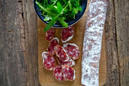 spanish salami and rucola
