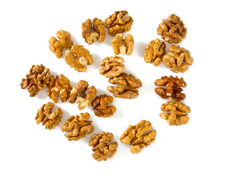 walnuts isolated on white background Stock Photo
