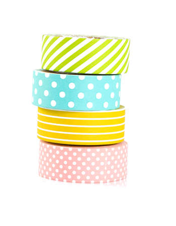 electric material: colorful paper tape