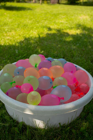 whimsy: colorful water ballons