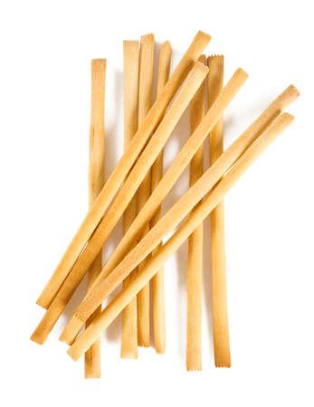 bread sticks isolated on white Фото со стока