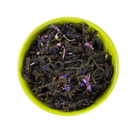 fireweed tea isolated on white Stock Photo