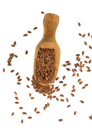 flaxseed isolated on white Stock Photo