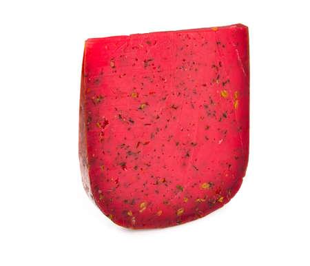 red gouda pesto isolated on white