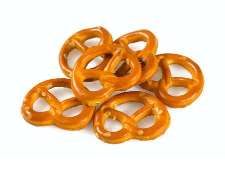 pretzels isolated on white background