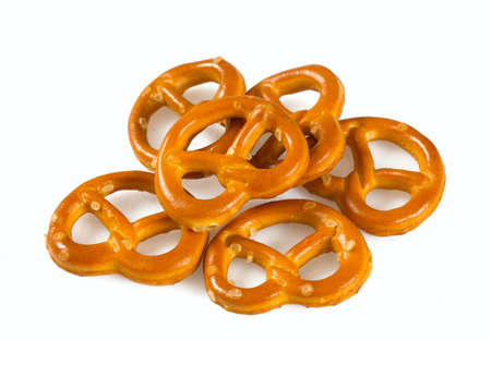 pretzels isolated on white background 免版税图像 - 92210296
