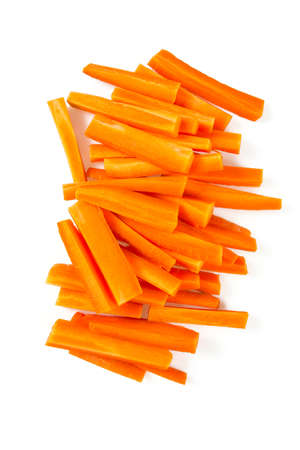 carrot sticks isolated on white Banque d'images - 92218221