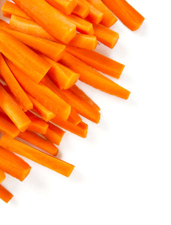 carrot sticks isolated on white Banque d'images - 92207221