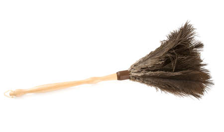 Feather duster isolated on white