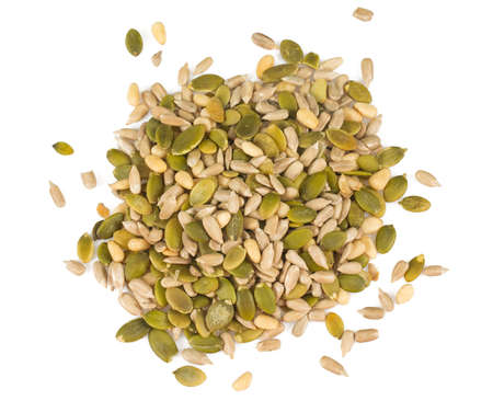 seed mix isolated on white