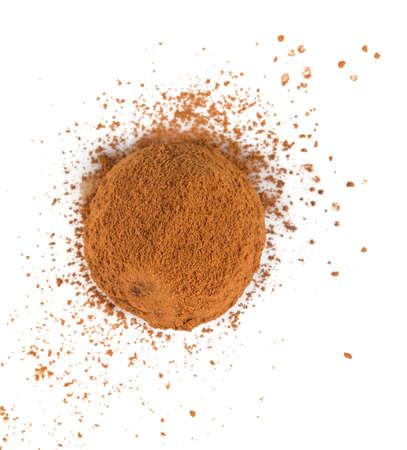 chocolate truffles isolated on white