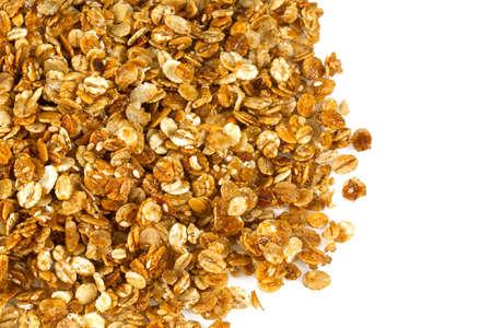 granola isolated on white 版權商用圖片
