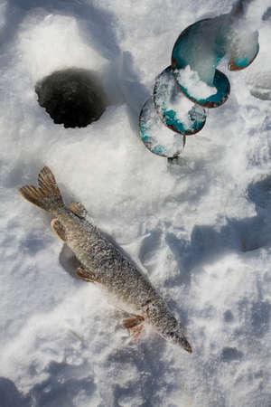 winter fishing Фото со стока