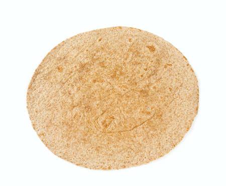 whole grain tortilla isolated